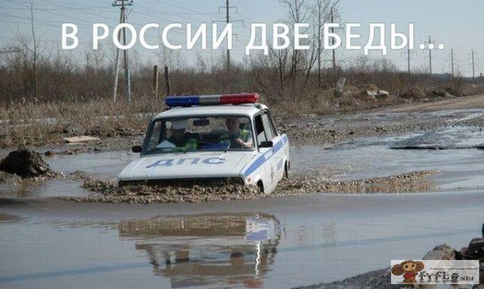 Архангельск. Асфальт сходит с дорог