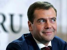 Дмитрий Медведев и ряженые