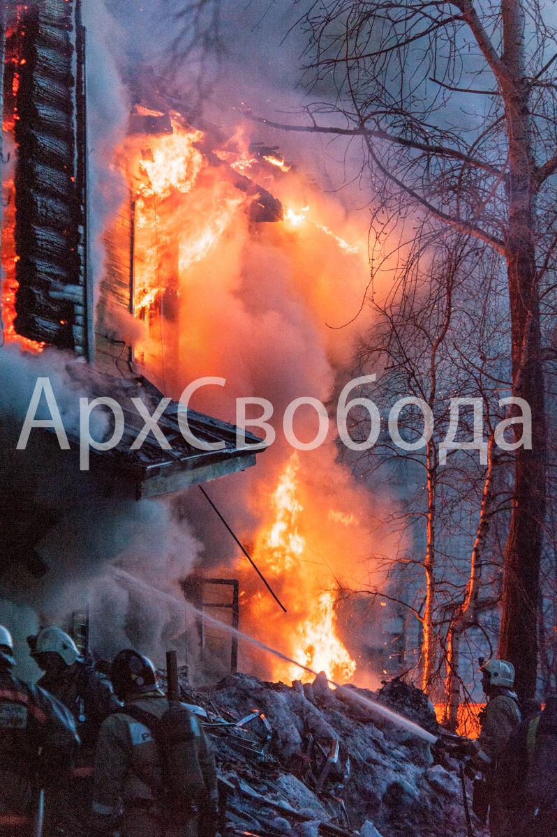 Архангельск. Пожар на Поморской