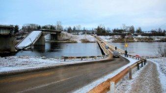 Мост через Вагу восстановили!