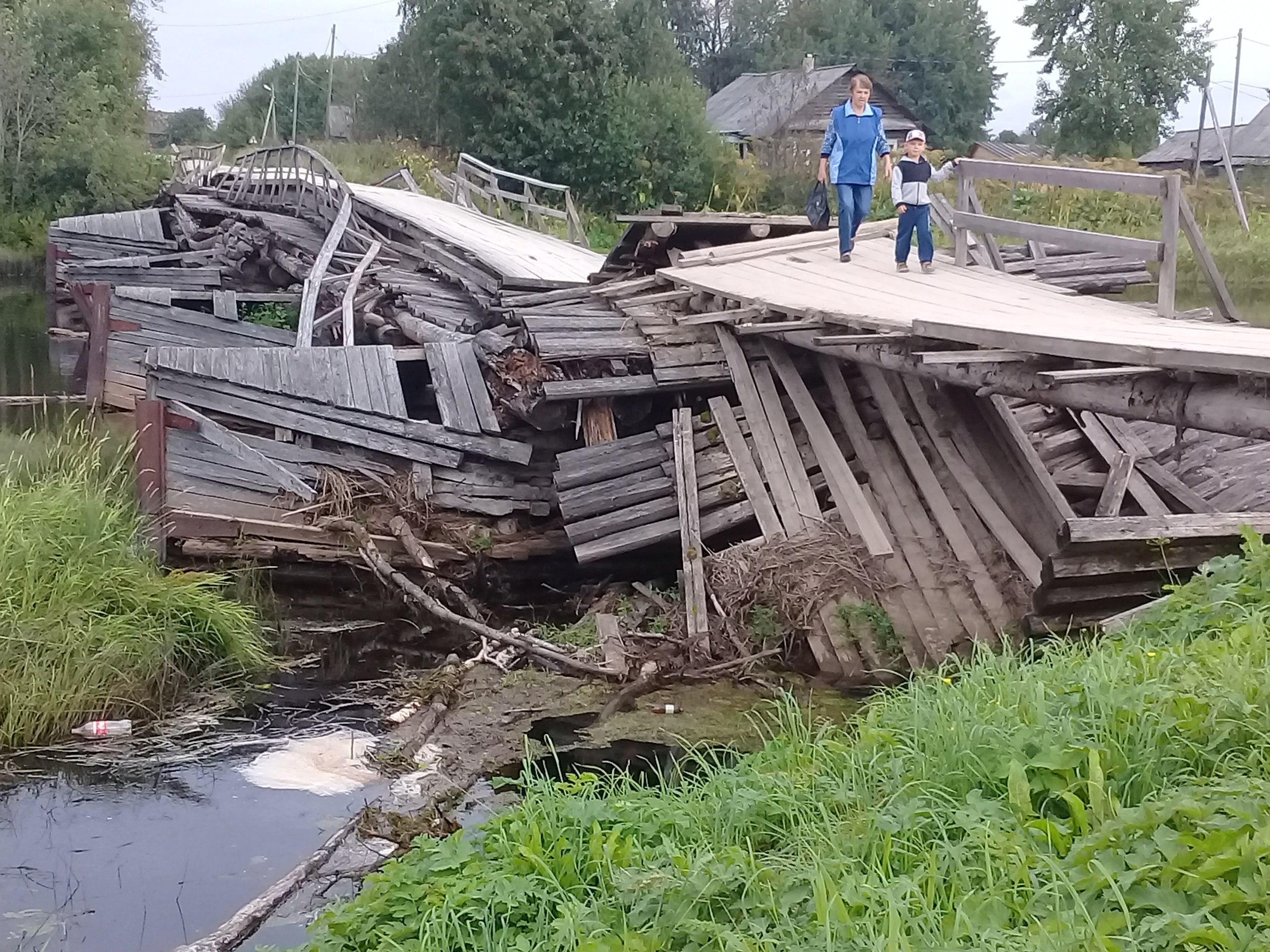 Каргопольские мосты ждут болтуна — губернатора