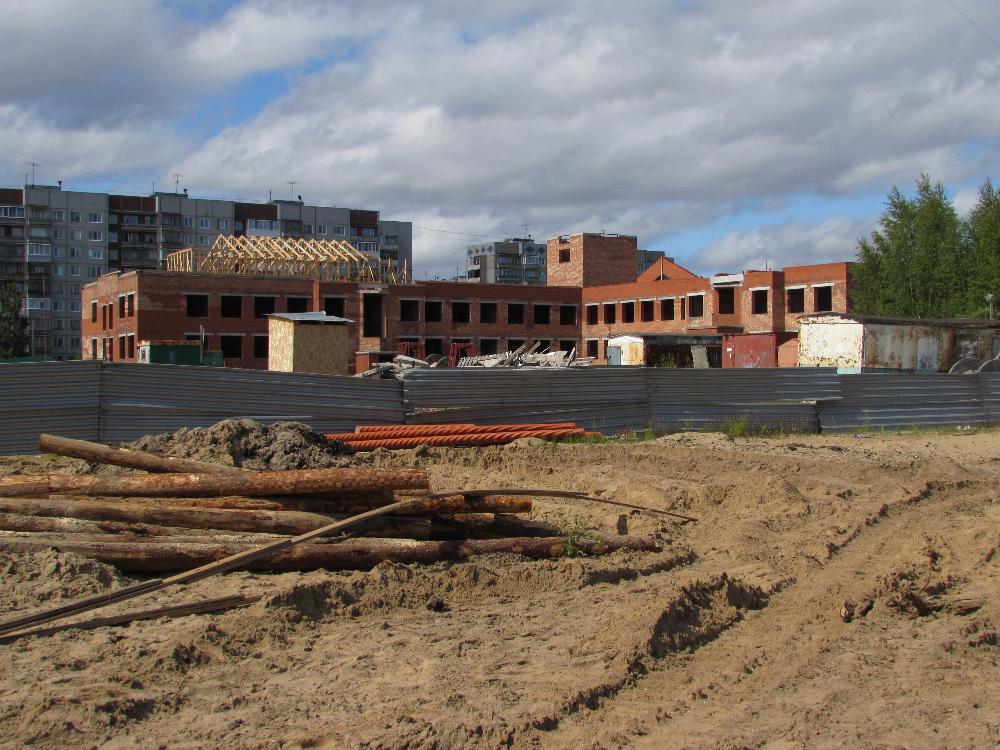 Строительство детского сада отстает от графика