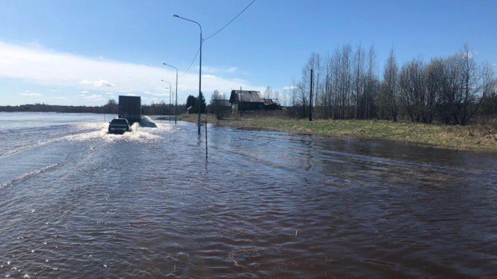 Затопило участок автодороги М-8 «Холмогоры, км 845 – км 846
