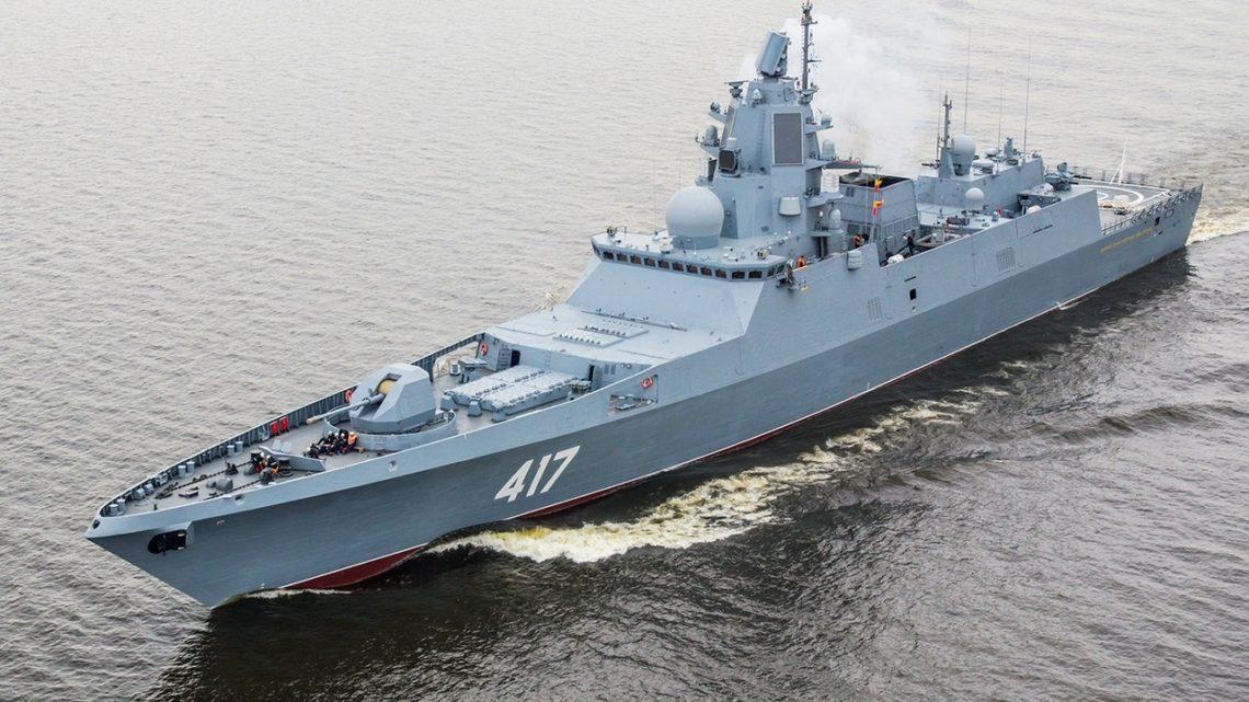 Фрегат «Адмирал Горшков» вышел в море для вторых испытаний гиперзвуковой ракеты «Циркон»