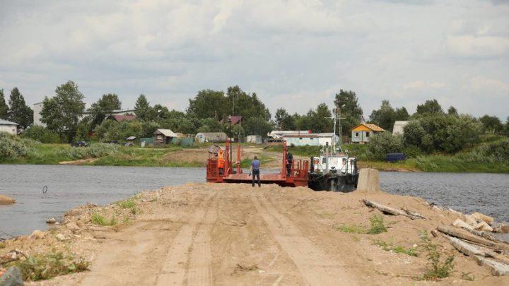 Бесплатный понтонный мост через реку Вагу появится уже в конце лета