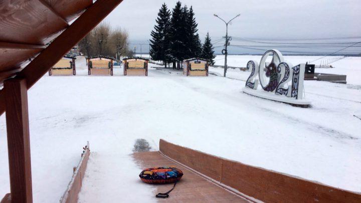 Архангельск не узнать. Строится огромная ледяная горка