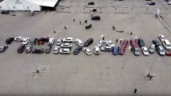 10 апреля автомобилисты устроили «космический» флешмоб